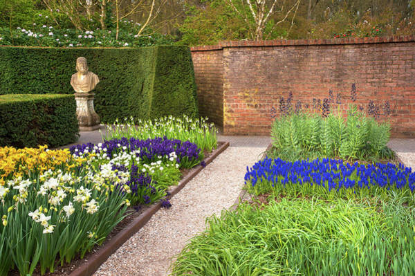 Photograph - Ornamental Garden With Colorful Flowerbeds In Keukenhof 4 by Jenny Rainbow