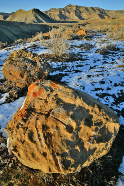 Photograph - Ornate Boulders Beneath The Book Cliffs by Ray Mathis