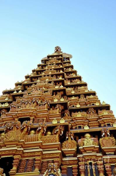 Photograph - Ornate Gopuram Pagoda Tower With Sculpture Gods At Nallur Kandaswamy Kovil  Hindu Temple Jaffna Sri  by Imran Ahmed