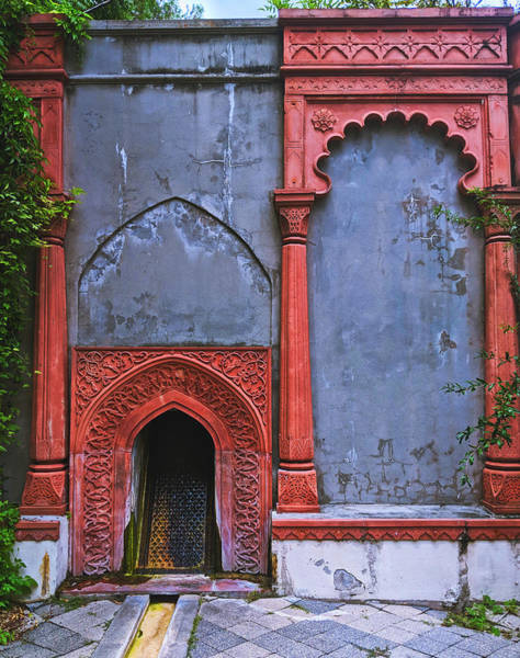 Photograph - Ornate Red Wall by Portia Olaughlin