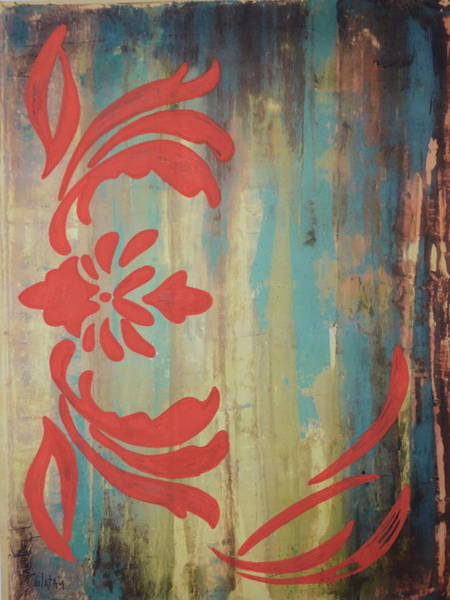 Avondet Wall Art - Digital Art - Ornate Rust I by Natalie Avondet