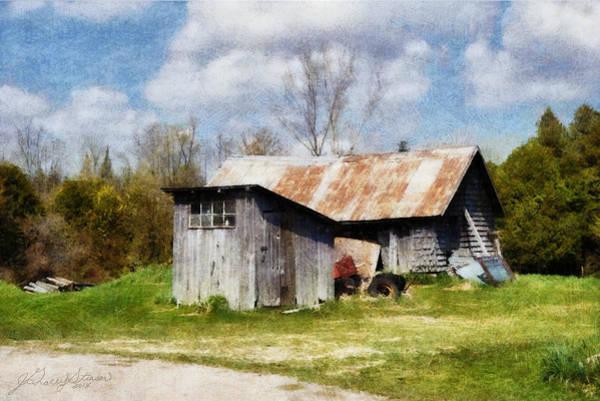 Digital Art - Oro Farm Sheds by JGracey Stinson