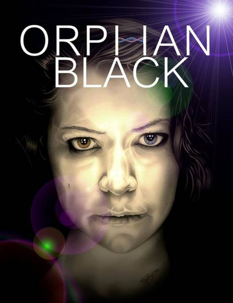 Drawing - Orphan Black by Fred Larucci