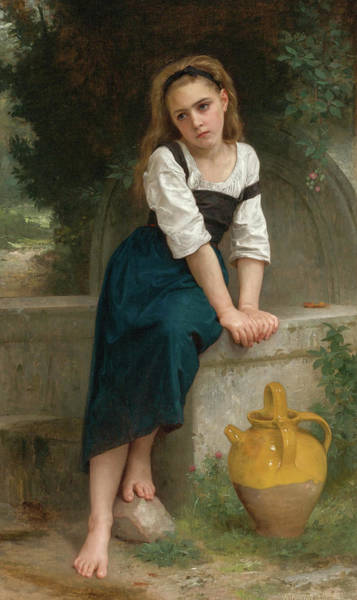 Wall Art - Painting - Orpheline A La Fontaine by William-Adolphe Bouguereau