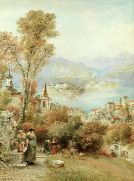 Wake Wall Art - Painting - Orta From The Sacro Monte, North Italy by Ebenezer Wake Cook