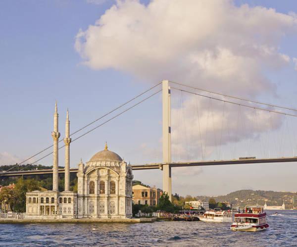 City Of David Photograph - Ortakoy Mosque And Bosphorus Suspension by David Madison
