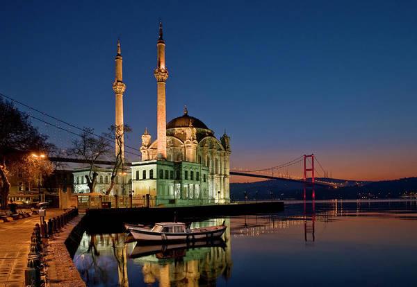 Wall Art - Photograph - Ortakoy Mosque Looking Towards The by Izzet Keribar