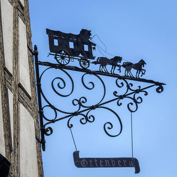 Wall Art - Photograph - Ortenberg Restaurant Sign Strasbourg by Teresa Mucha