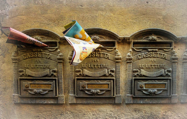 Photograph - Orvieto Italy Mailboxes by Joan Carroll