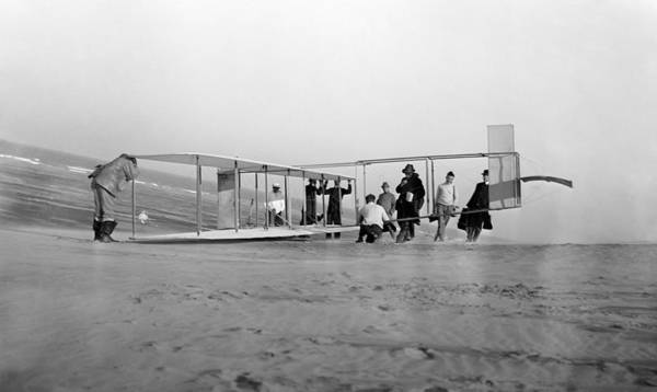 Wall Art - Photograph - Orville Wright Preparing Glider For Flight - 1911 by War Is Hell Store
