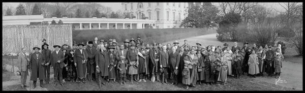 Wall Art - Photograph - Osage Indians Visit President Coolidge by Fred Schutz Collection