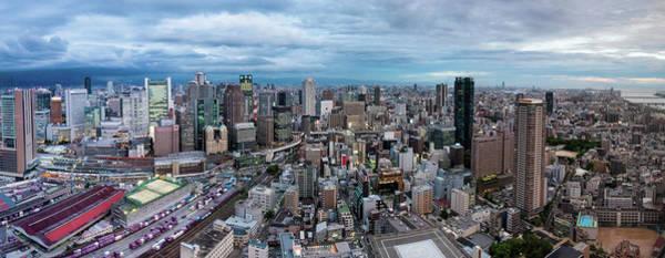 Wall Art - Photograph - Osaka Panorama With Low Clouds by Matias Jaskari