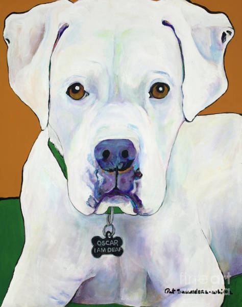 Painting - Oscar I Am Deaf by Pat Saunders-White