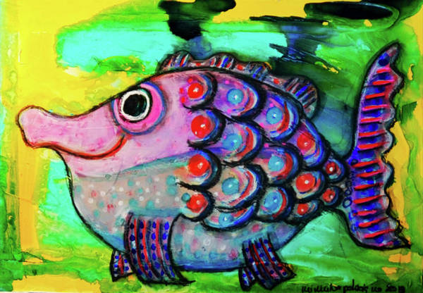 Mixed Media - Oscar The Nosefish by Mimulux patricia No