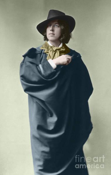 Colorized Photograph - Oscar Wilde Around 1882 By Napoleon Sarony  by Napoleon Sarony