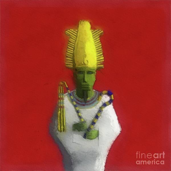 Wall Art - Painting - Osiris, God Of Ancient Egypt by Raphael Terra