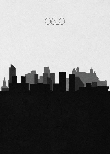 Digital Art - Oslo Cityscape Art by Inspirowl Design