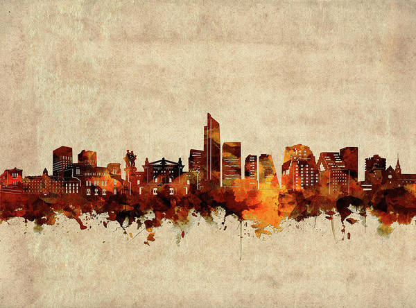 Wall Art - Digital Art - Oslo Skyline Sepia by Bekim M