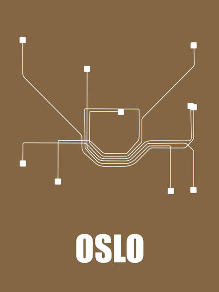Wall Art - Digital Art - Oslo Subway Map 2 by Naxart Studio