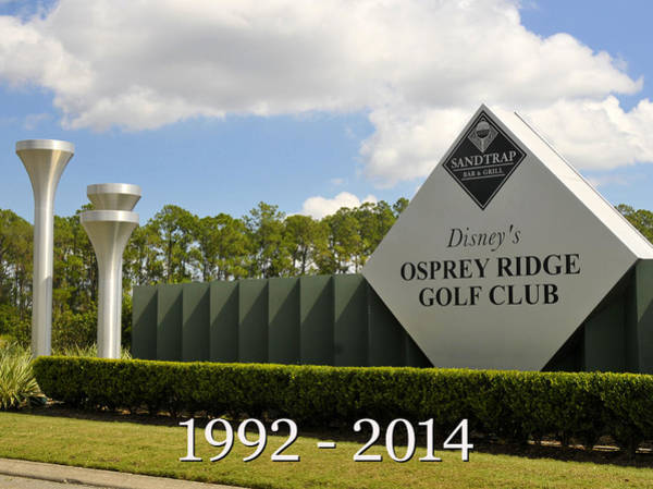 Wall Art - Photograph - Osprey Ridhe Golf Club 1992 To 2014 by David Lee Thompson