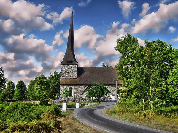 Photograph - Osterhaningen Church by Anthony Dezenzio