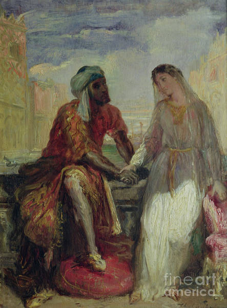 Wall Art - Painting - Othello And Desdemona In Venice, 1850 by Theodore Chasseriau