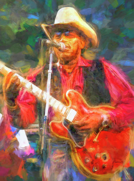 Wall Art - Mixed Media - Otis Rush Blues Guitarist by Mal Bray