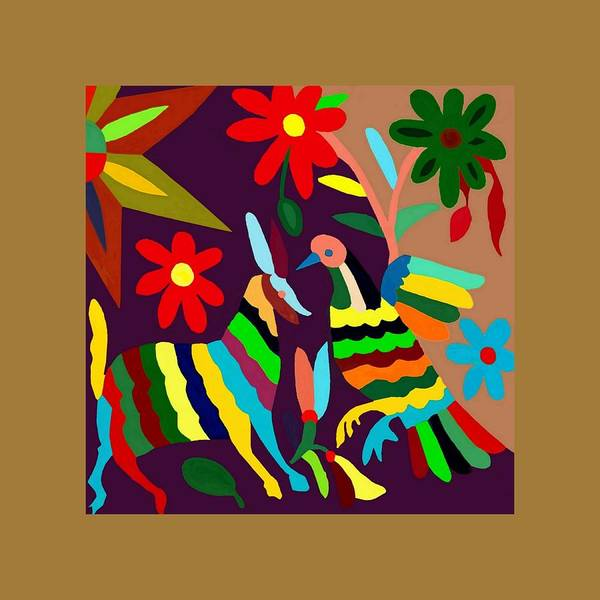 Wall Art - Painting - Otomi 24 by Ken Pollard