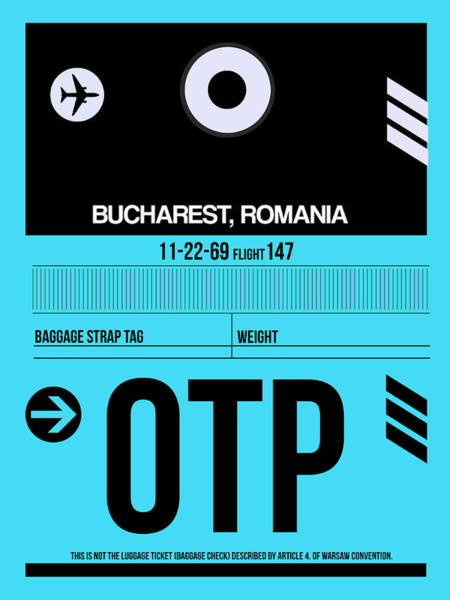 Wall Art - Digital Art - Otp Bucharest Luggage Tag II by Naxart Studio