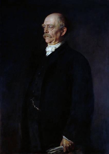 Wall Art - Painting - Otto Von Bismarck Portrait - Franz Von Lenbach by War Is Hell Store