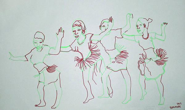 Painting - Otwenge Dance West Nile Uganda by Gloria Ssali