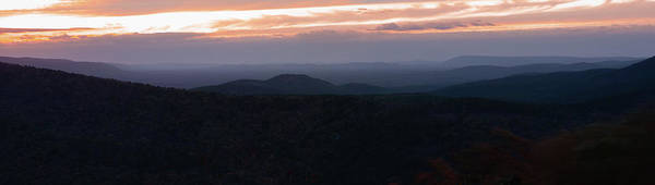 Photograph - Ouachita Mountains Panorama At Dusk - Talimena Scenic Drive Byway by Gregory Ballos