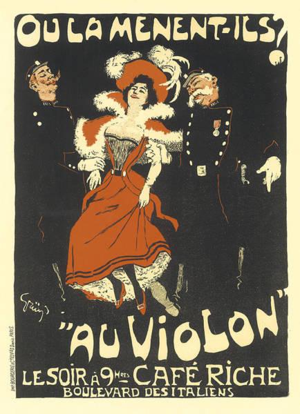 Painting - Oulamentils Au Violon Vintage French Advertising by Vintage French Advertising
