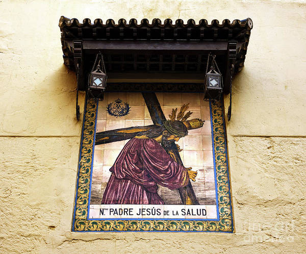 Photograph - Our Father Jesus Of Health In Seville by John Rizzuto