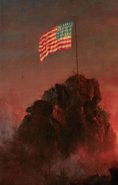 Wall Art - Painting - Our Flag, 1864 by Frederic Edwin Church