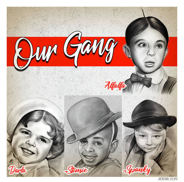 Drawing - Our Gang by Greg Joens
