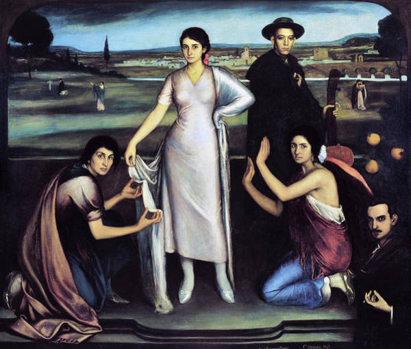 Spanish Guitar Wall Art - Painting - Our Lady Of Andalusia by Julio Romero de Torres