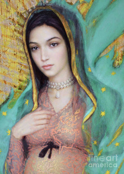 Painting - Our Lady Of Guadalupe, 1/2 by Smith Catholic Art