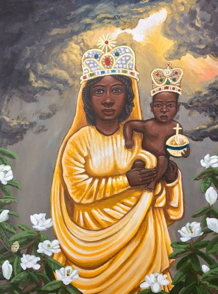 Painting - Our Lady Of Prompt Succor by Kelly Latimore
