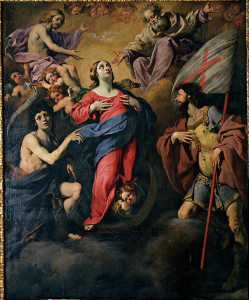 Painting - Our Lady Of The Assumption Between Sts by Mondadori Portfolio