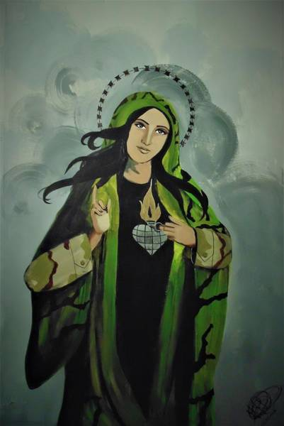 Painting - Our Lady Of Veteran Suicide by MB Dallocchio