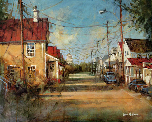 Wall Art - Painting - Our Old Neighborhood, New Bern, Nc by Dan Nelson
