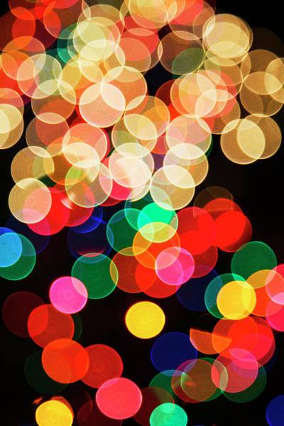 Wall Art - Photograph - Out Of Focus Pattern Of Christmas Lights by Adam Jones