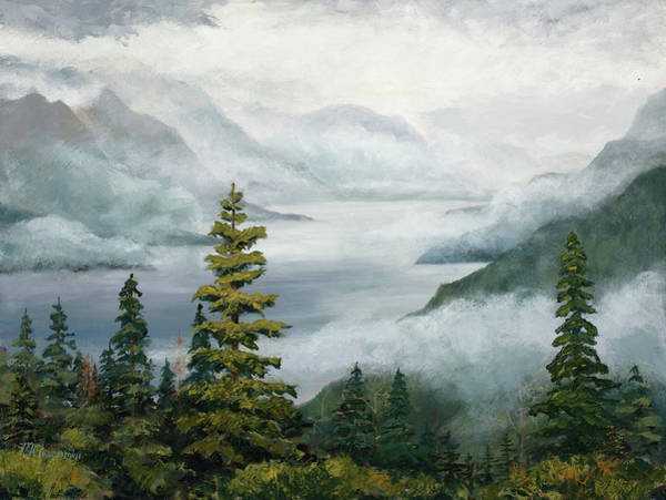 Painting - Out Of The Mist by Mary Giacomini