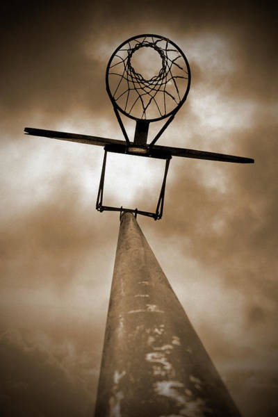 Court Photograph - Outdoor Basketball Hoop - Low Angle by Jitalia17