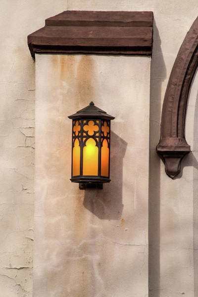 Photograph - Outdoor Church Light by Don Johnson