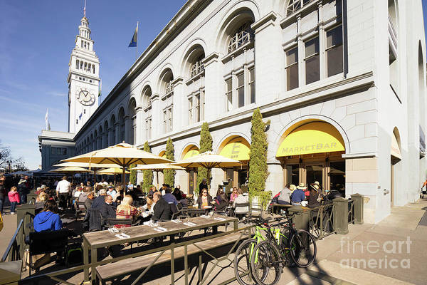 Photograph - Outdoor Dining At The San Francisco Ferry Building Market Bar Dsc6757 by Wingsdomain Art and Photography