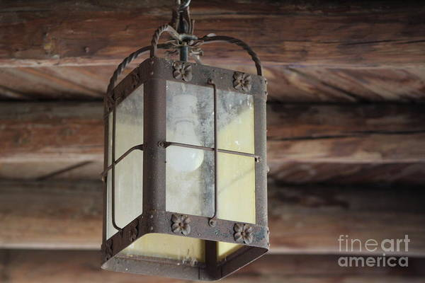 Photograph - Outdoor Lamp At Fort Stanton New Mexico by Colleen Cornelius