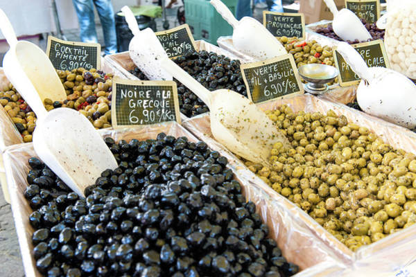 Wall Art - Photograph - Outdoor Market Selling Olives, Uzes by Lisa S. Engelbrecht