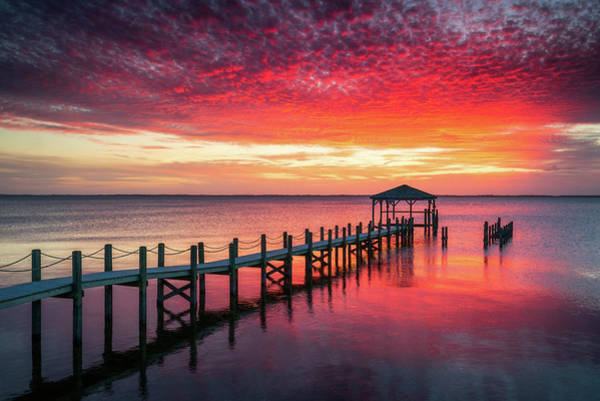 Nc Wall Art - Photograph - Outer Banks North Carolina Sunset Seascape Photography Duck Nc by Dave Allen